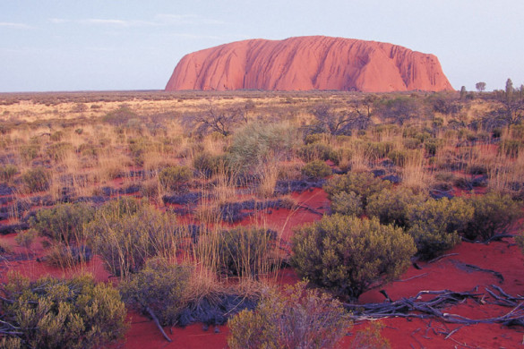 uluru in Australia's red centre