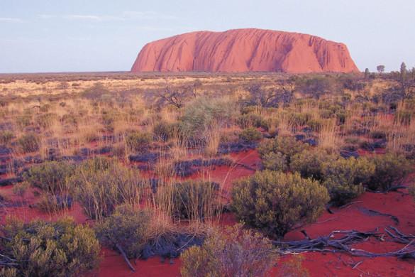 uluru in Australia's red centre