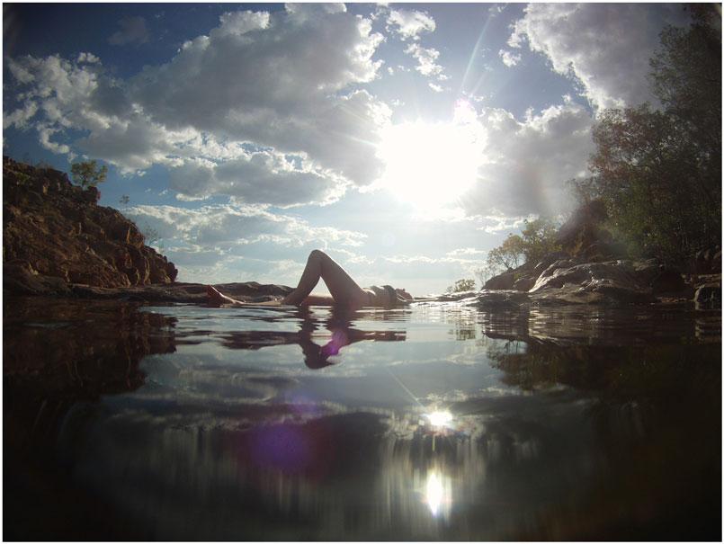 Gunlom Falls plunge pool,