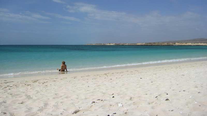 Australian-adventures,-the-beach-at-Cape-Range,-Western-Australia---Sebastian-and-Tyson