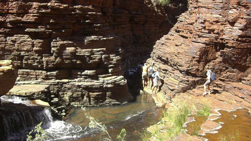 Australian-adventures,-the-spider-walk-in-Karijini-National-Park---Pat-Scullion