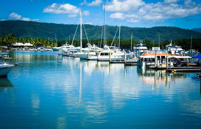 Cairns,-boats-in-the-Port-Douglas-marina---Michael-McGimpsey