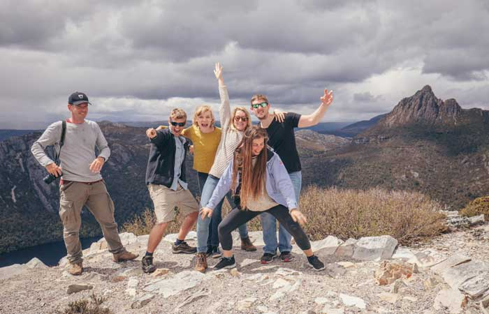 Tasmania-group-tour-Cradle-Mountain-group---Adventure-Tours