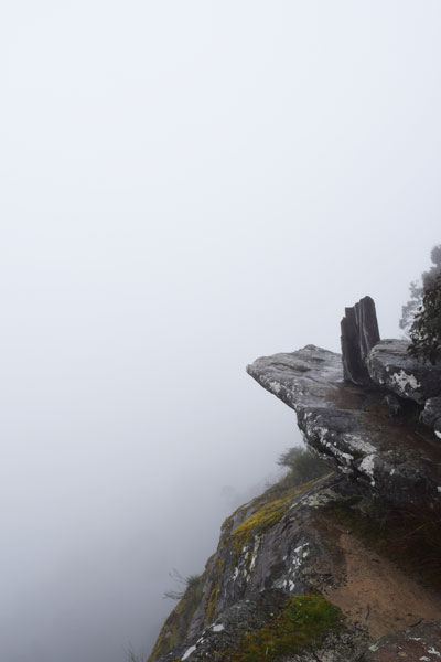 Grampians cliff mist - Allison Bradley