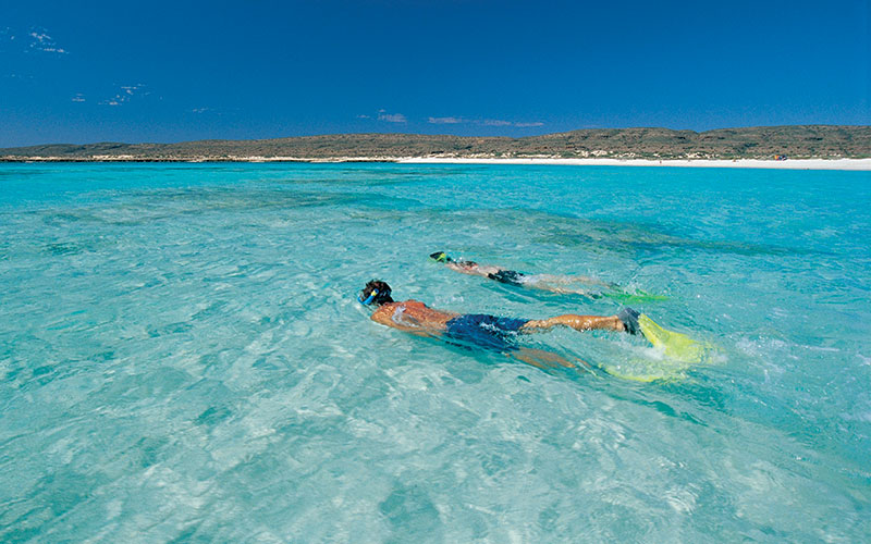 Snorkelling in Turquoise Bay, Ningaloo Coast