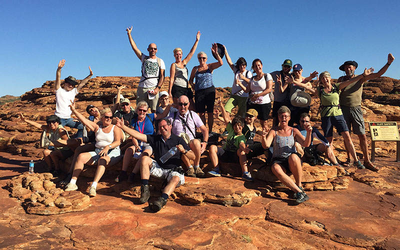 Susanne's group in Kings Canyon