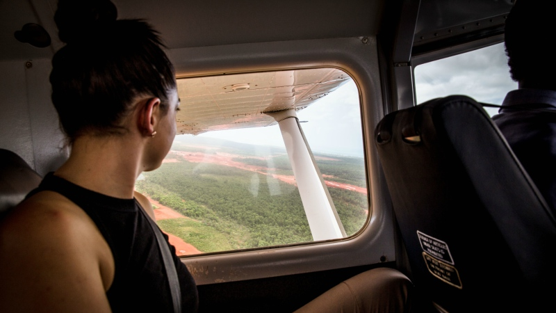 Flying into Nyinyikay, in the Northern Territory