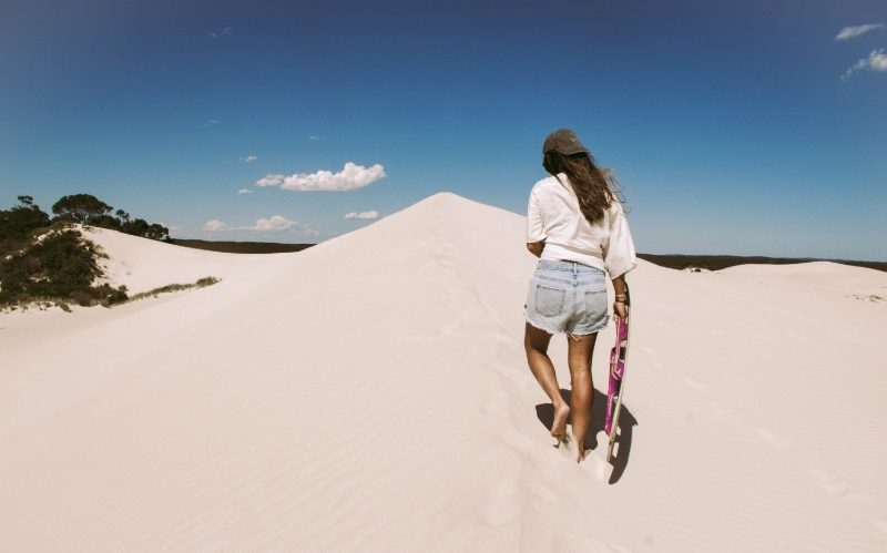 Sandboarding the Little Sahara