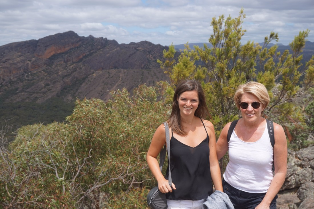 The writer and her mum in the mountains, Australia