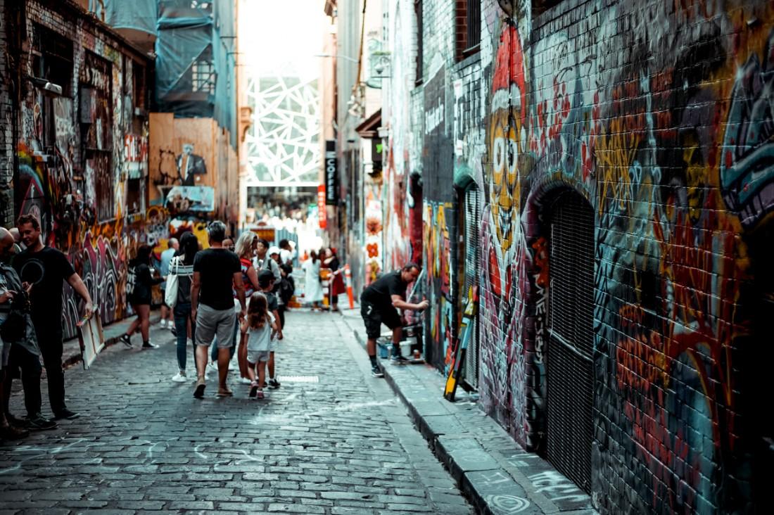 Melbournes iconic laneways