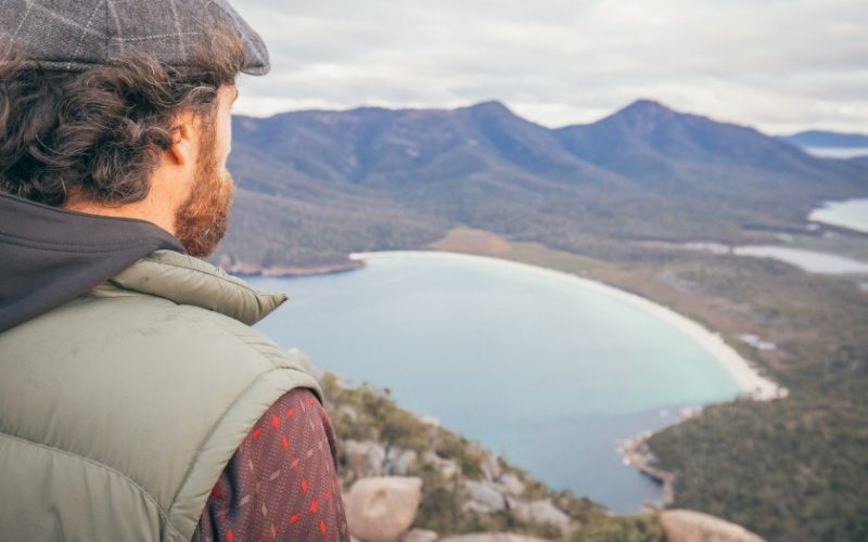Looking out over Wineglass Bay