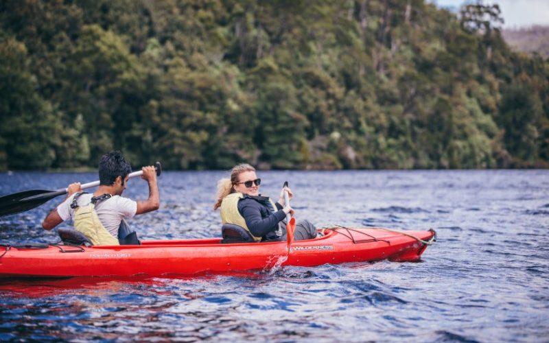 Kayaking on Tasmania's Pieman River