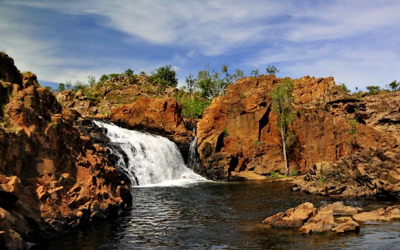 Waterfall and swimming hole in Australia