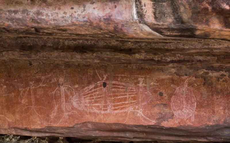 Ancient rock art in Arnhem Land