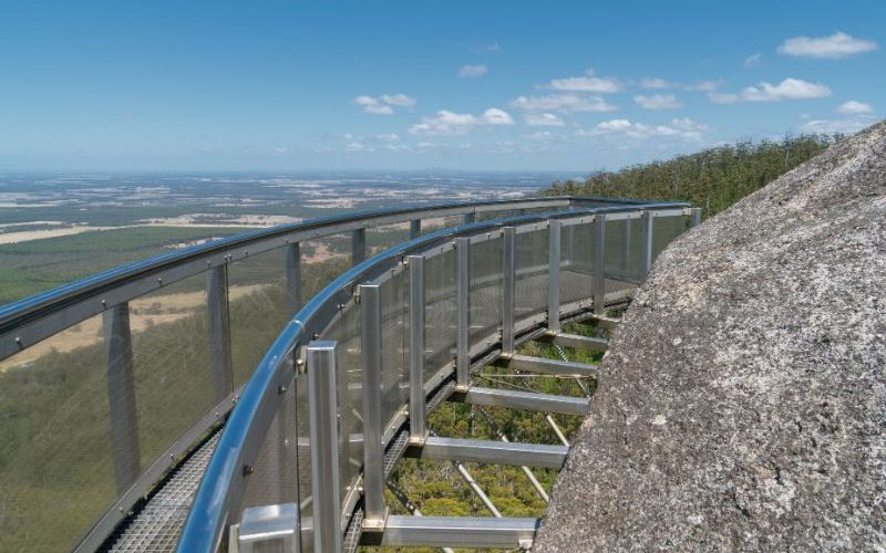 Sky walk looking over the national park