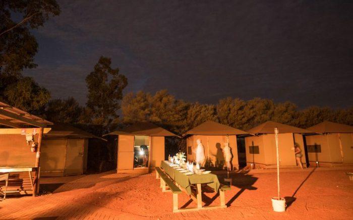 Camptsite in Uluru