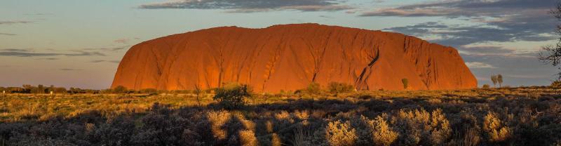australia, northern territory, uluru, sunset