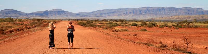 australia wa pax two girls on road