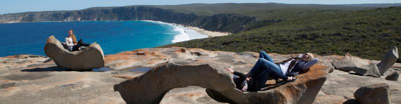 Sunbathing on Kangaroo Island