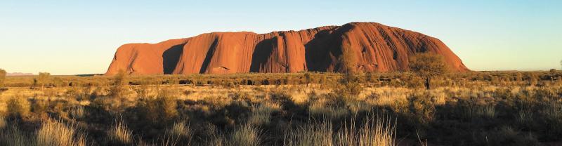 Uluru and its shadows, Northern Territory