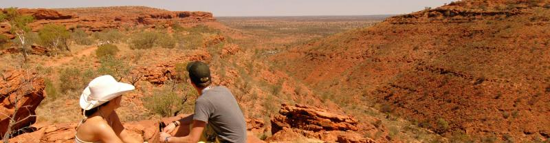 People looking over canyon in the Northern Territory