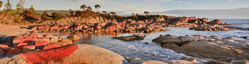 The Bay of Fires in Tasmania as seen on our Tasmania tours