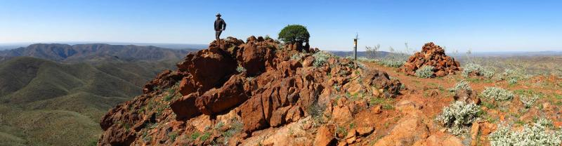 Looking out over the Flinders Ranges, South Australia