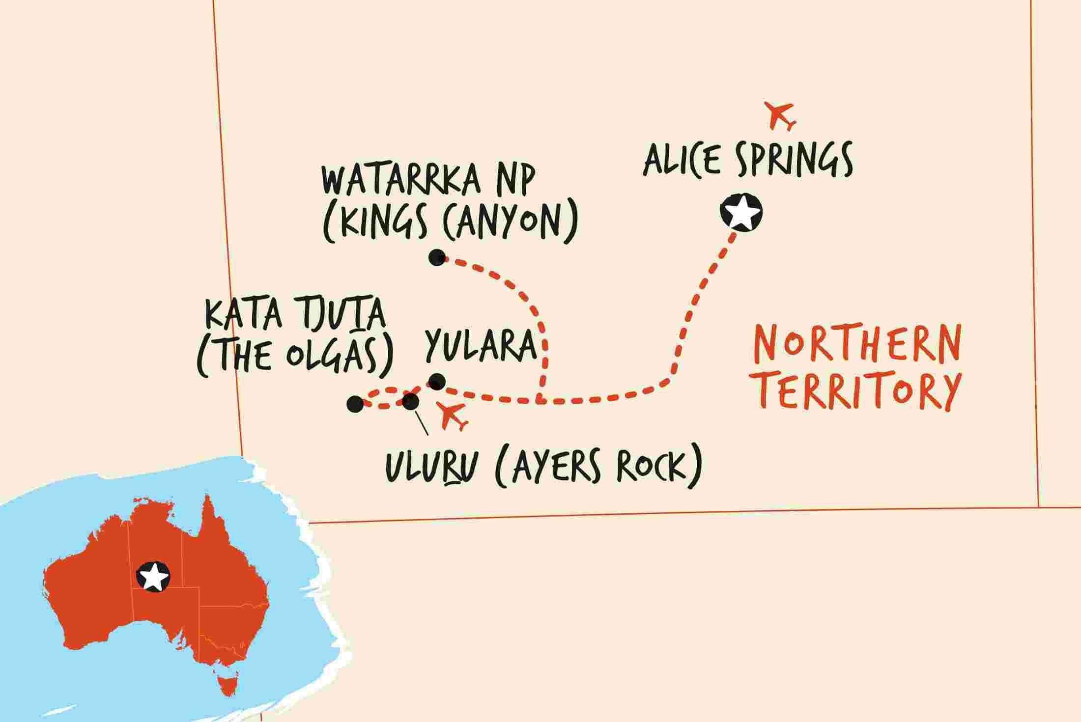 3 Day Uluru Adventure Original Adventure Tours Au