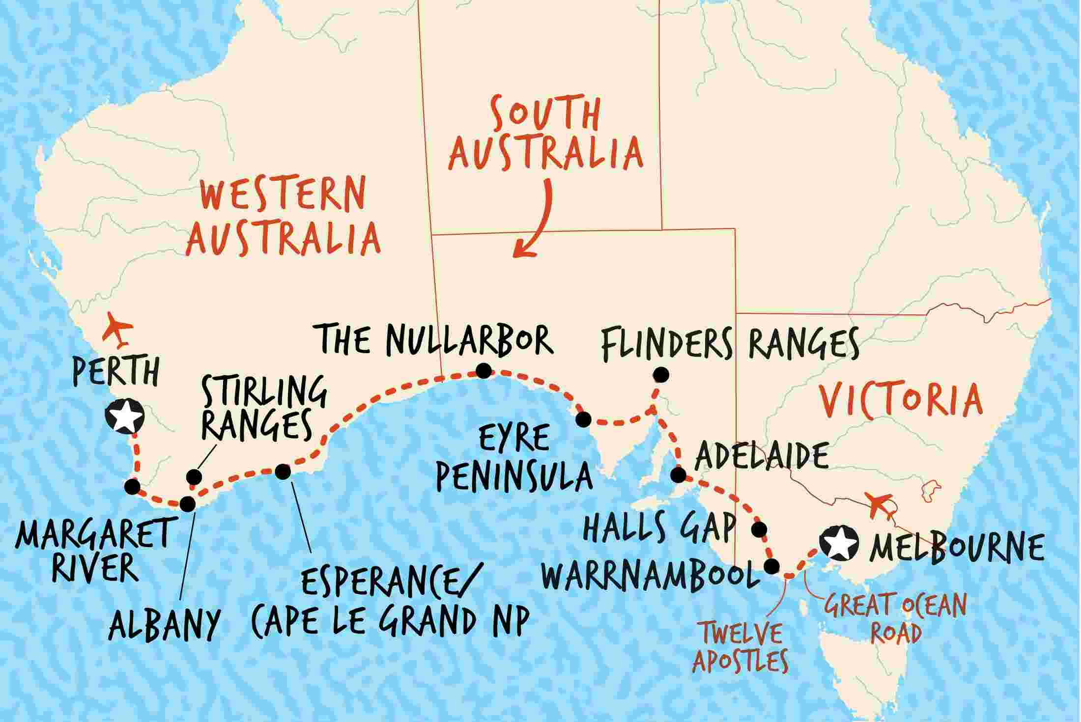 Map Of Australia Showing Perth.Best Perth Tours Travel 2019 Adventure Tours Australia