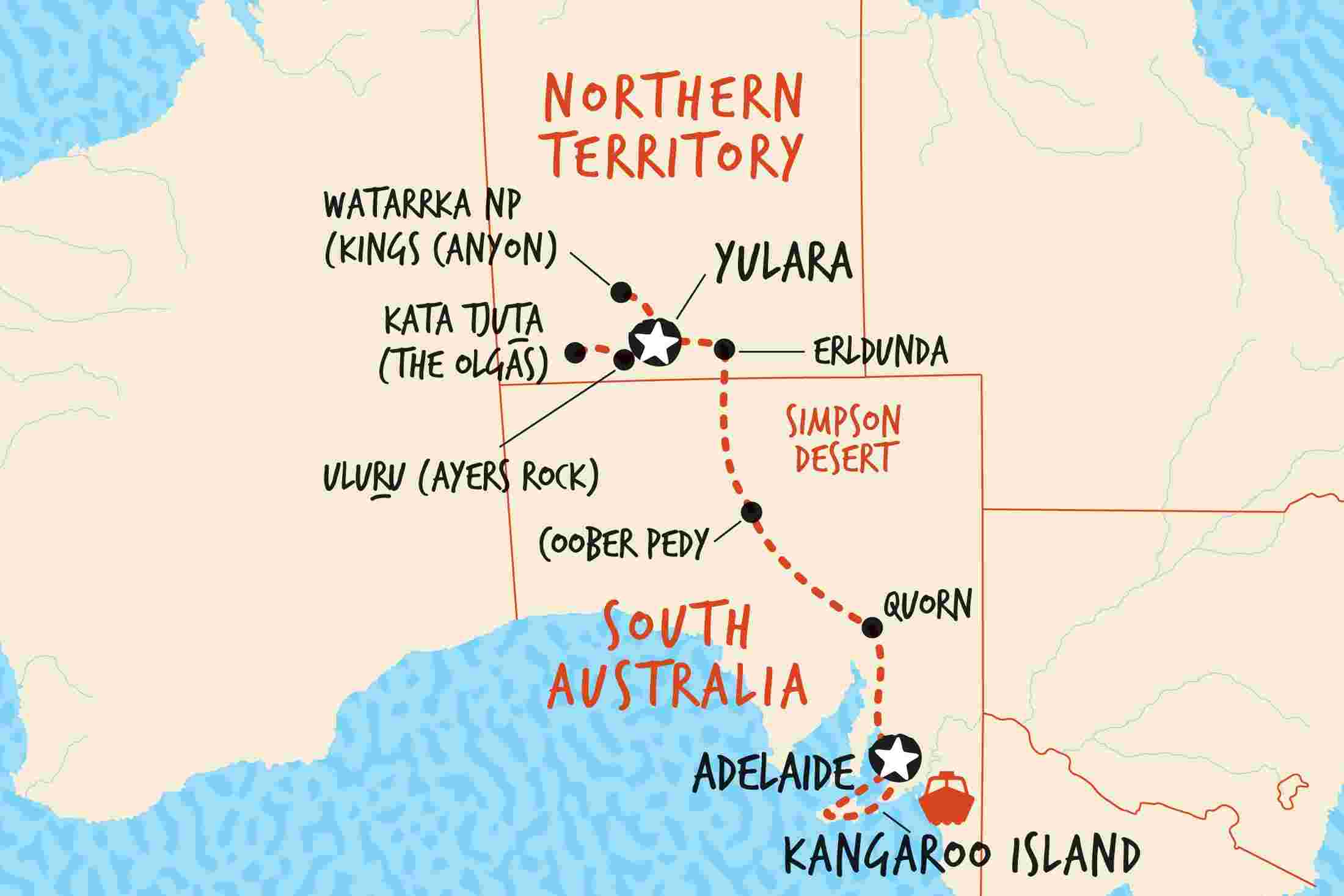 Map Of South Australia And Northern Territory.Northern Territory Tours Trips Adventure Tours Au