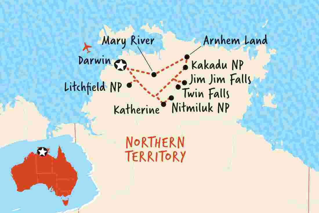 Map Of Australia Kakadu National Park.Kakadu National Park Tours Trips Adventure Tours Au