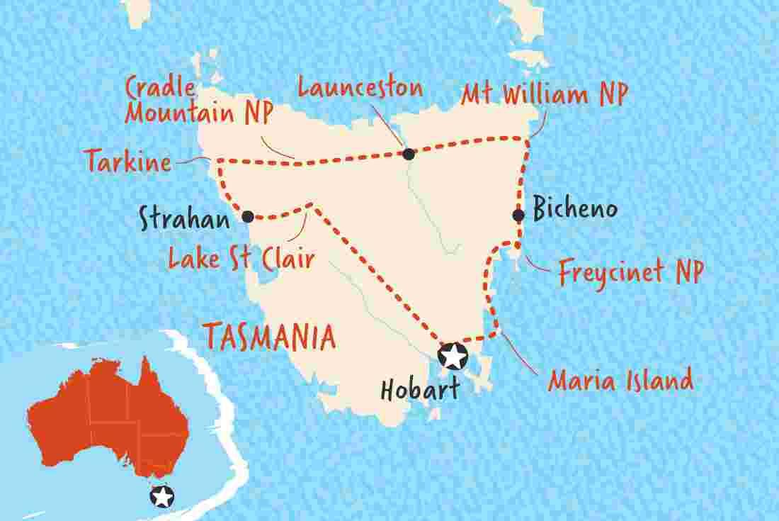 Map Australia Tasmania.Taste Of Tasmania Overview Taste Of Tasmania