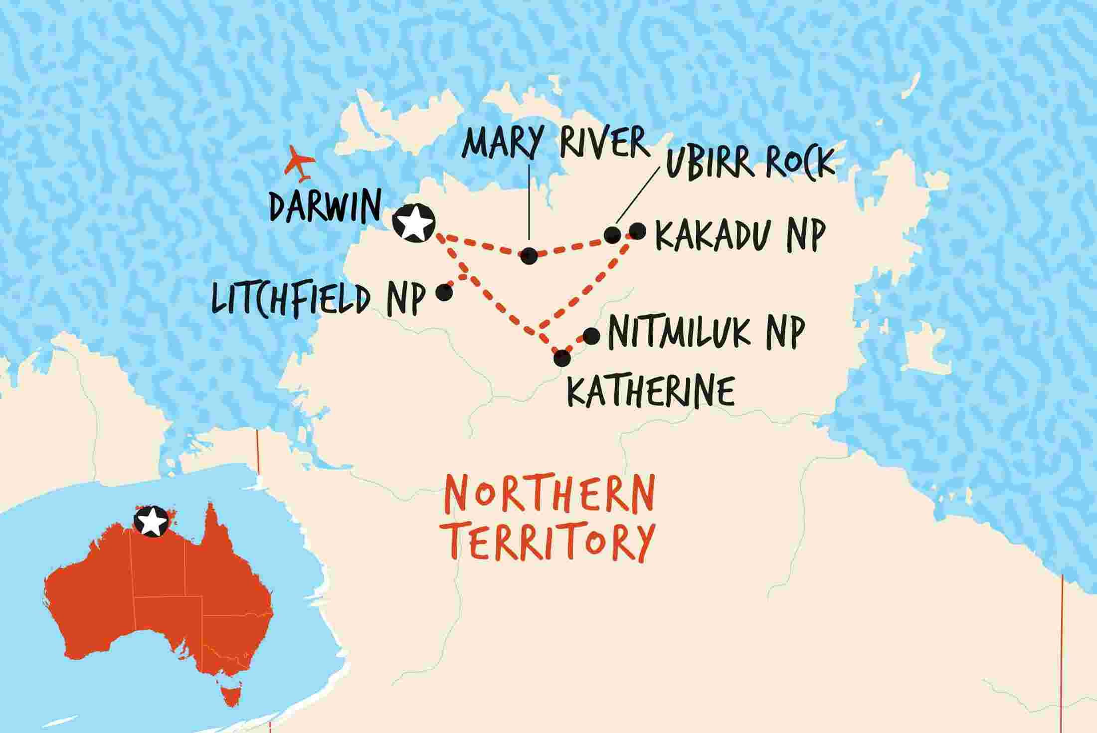 Map Of Australia Kakadu National Park.Kakadu Katherine Litchfield Adventure Adventure Tours