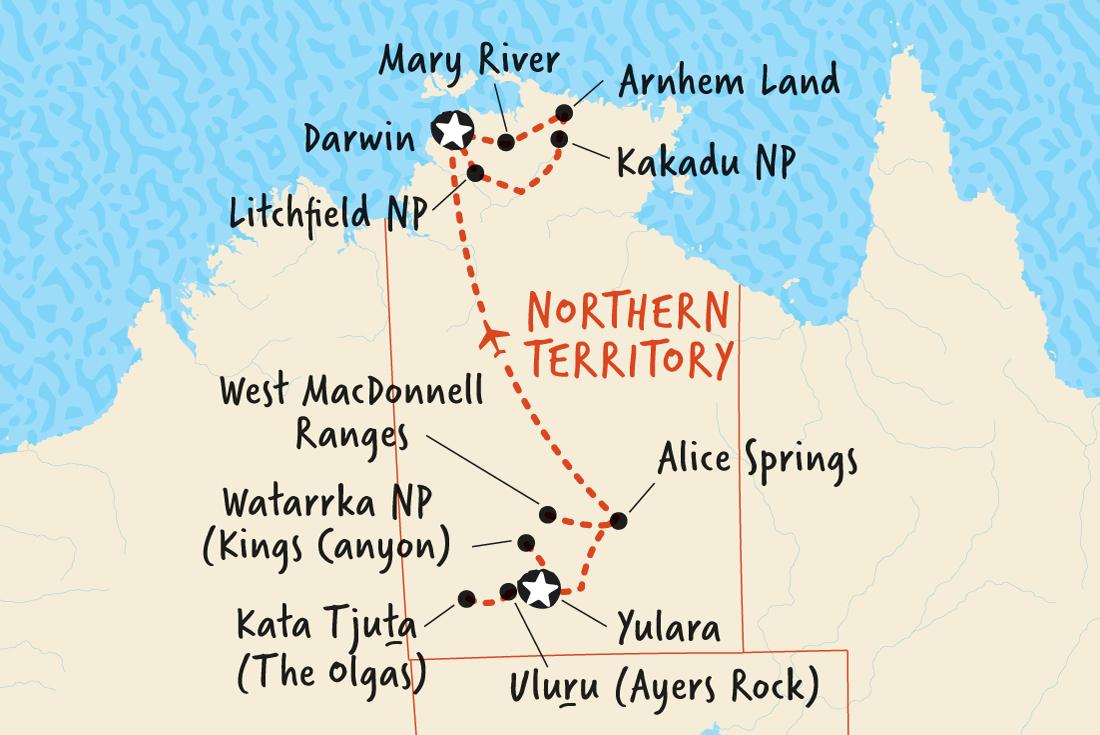 Uluru To Kakadu And Arnhem Land Adventure Tours Au