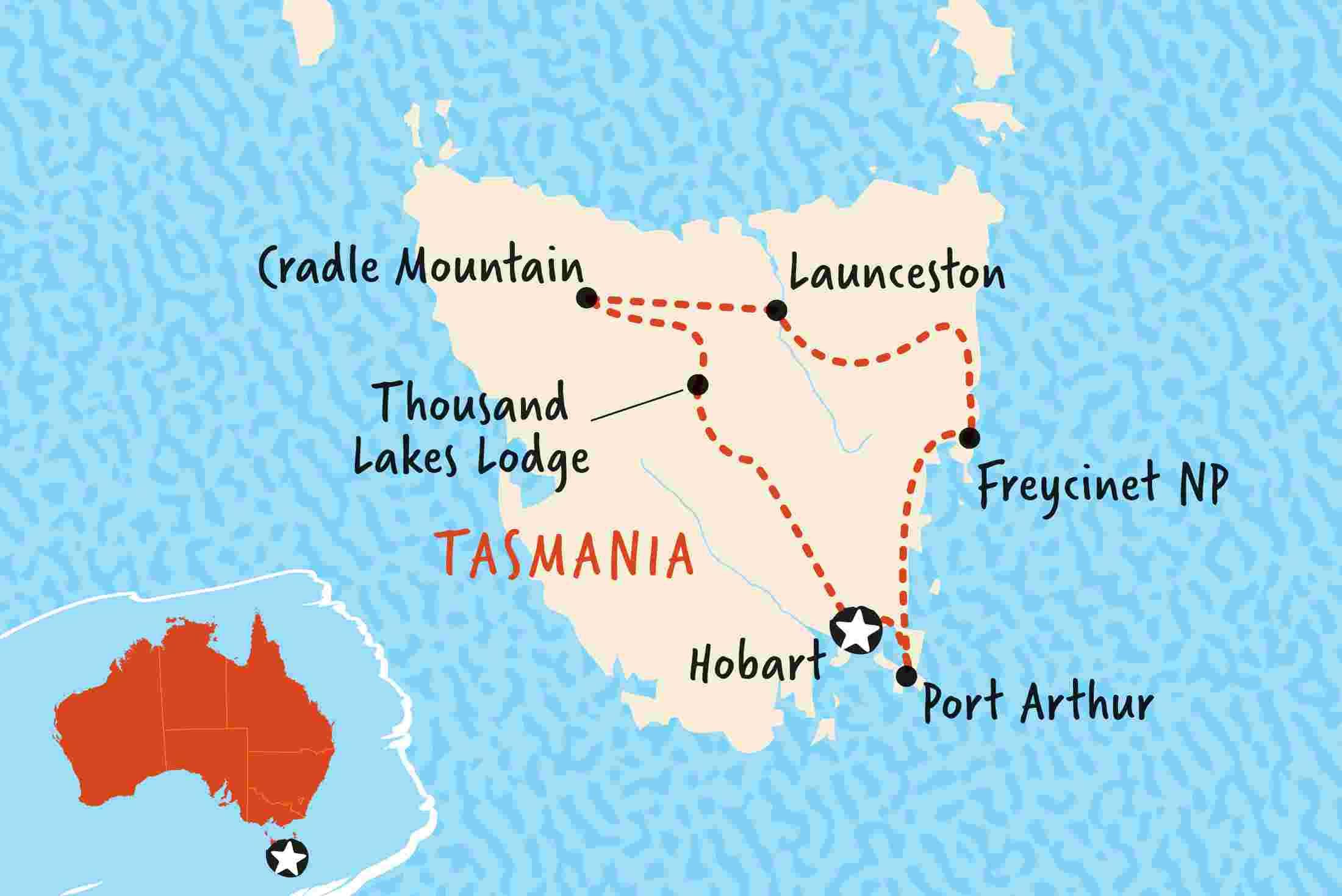 Map Of Australia And Tasmania.Tasmania Tours Travel Trips Adventure Tours Australia