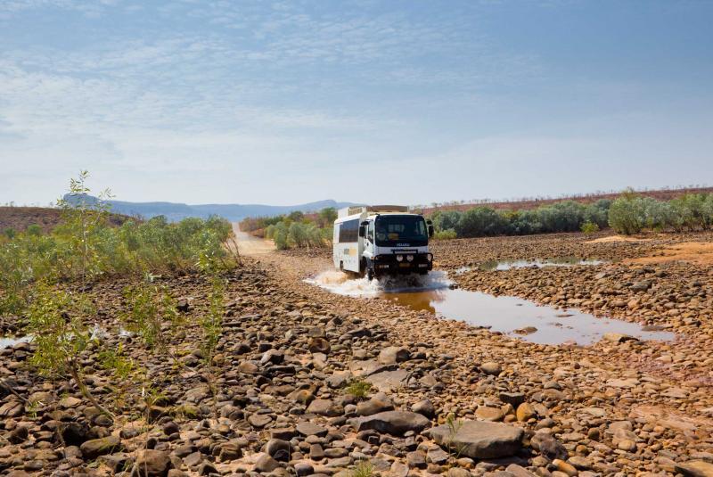 Adventure Tours Australia overland vehicle, Purnululu National Park, Western Australia