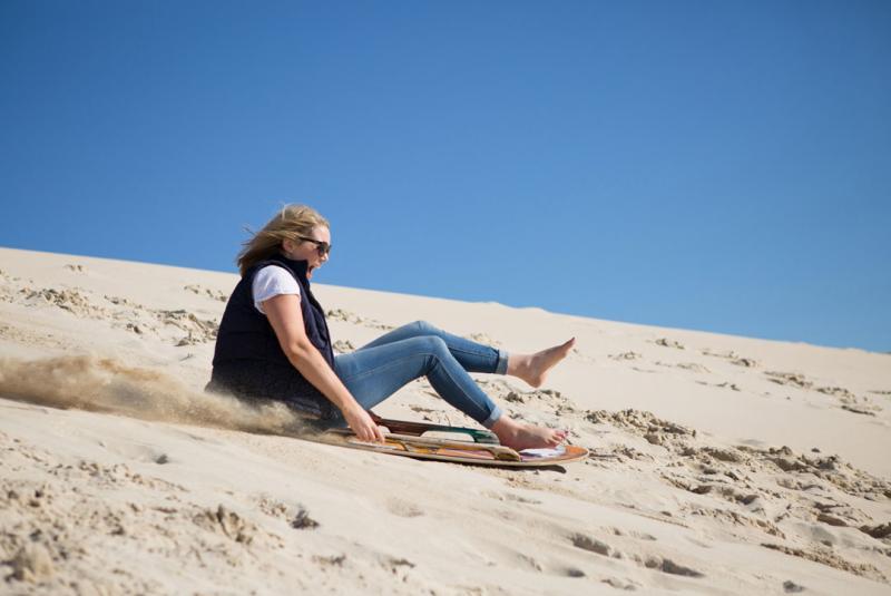 Try sandboarding at Little Sahara, Kangaroo Island