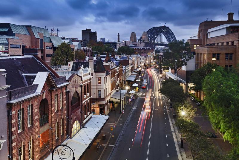 View over The Rocks in Sydney