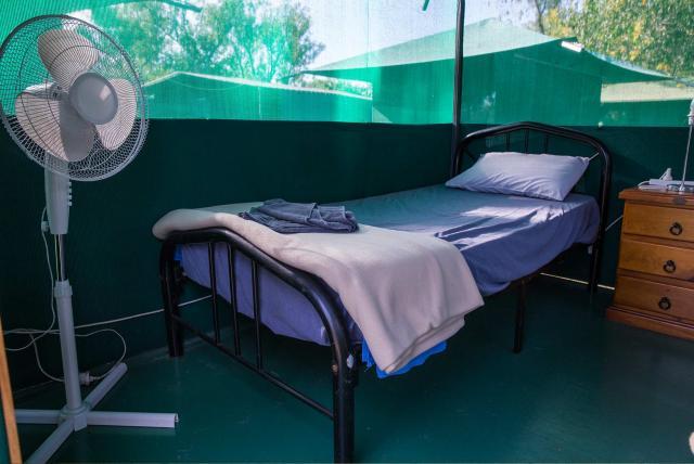 Original accommodation in Corroboree Camp, Northern Territory